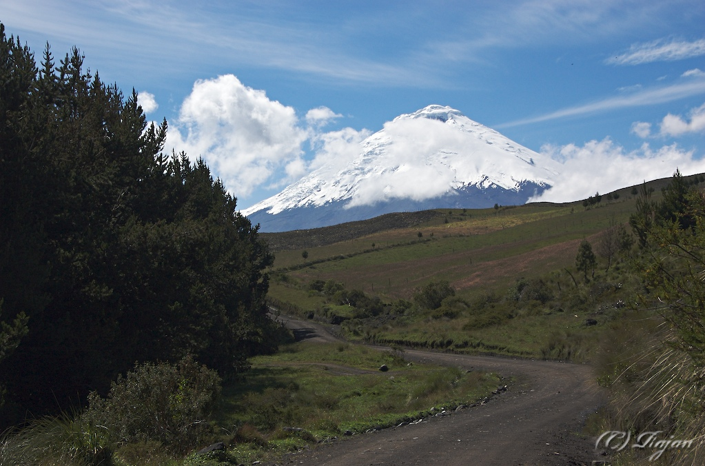 The North Entrance to Cotopaxi National Park